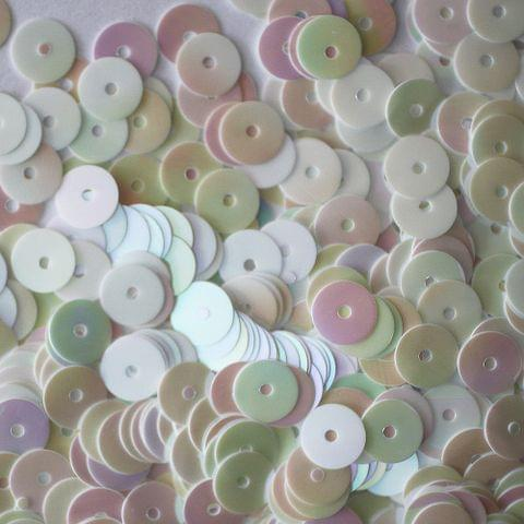 Buy 1 Get 1 Free Foppish Mart White  Disc Shaped Sequins