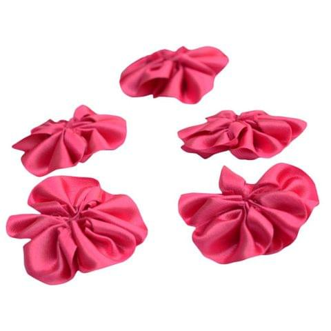 Buy 1 Get 1 Free Foppish Mart Pink Satin Stitched Flowers15 pieces in each