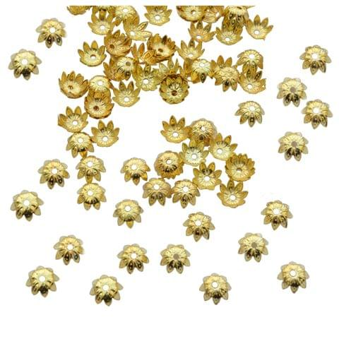 Foppish Mart Small Floral Bead Cap Fillers for Jewellery Making_ 75 pieces