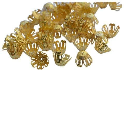 Medium Floral Bead Cap Fillers for Jewellery Making_ 25 pieces