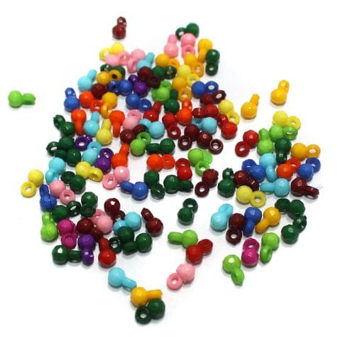 100 gm Acrylic Latkan Beads Multicolor 7x4mm