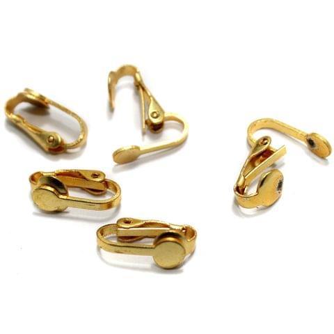20 Pcs Earring Clips Golden 16x6mm