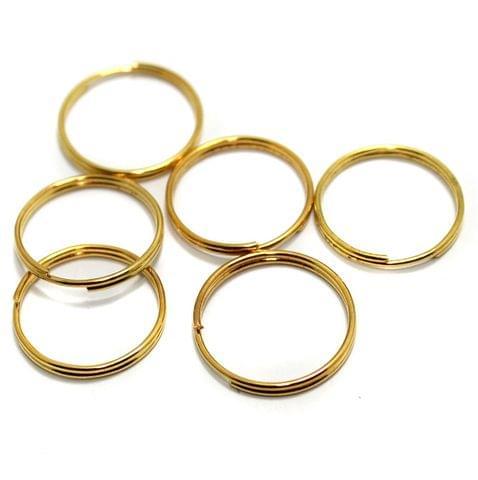 50 Pcs Golden Key Chain Rings 2 Cm