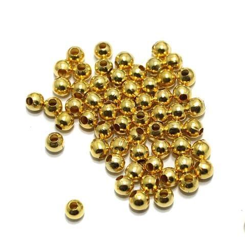 100 gm Golden Metal Balls 4mm, Approx 880 Pcs