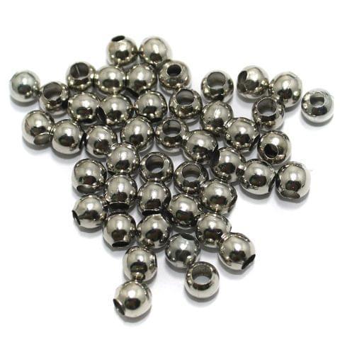 100 gm Nickle Silver Metal Balls 6mm, Approx 350 Pcs
