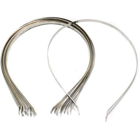 10 Pcs Hairband Bases Silver 15 Inch