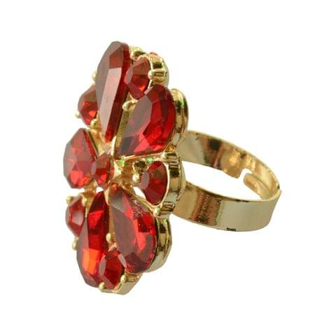 Foppish Mart Flirty Red  Cocktail Ring For Women