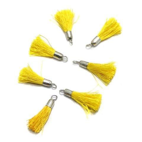 100 Pcs Silk Thread Tassel 1 Inch Yellow