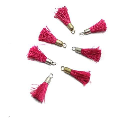 100 Pcs Silk Thread Tassel 1 Inch Magenta