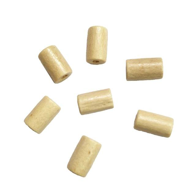 30 pcs, acrylic 4x 8mm cream cyclindrical shape beads with full hole