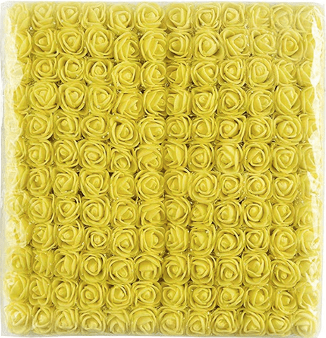 288pcs, Yellow foam flowers for jewellery making, tiara making (2cm)