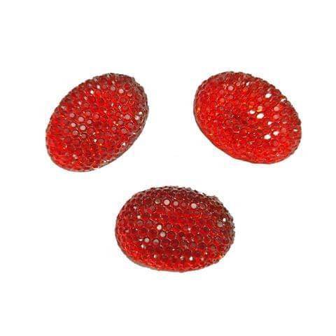 30 pcs, acrylic sugar oval shape beads 20 mm with flat base