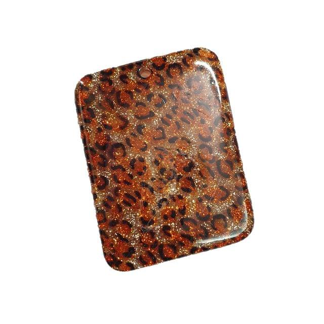 10 pcs, acrylic rectangle shape tiger beads 60 mm with hole at top