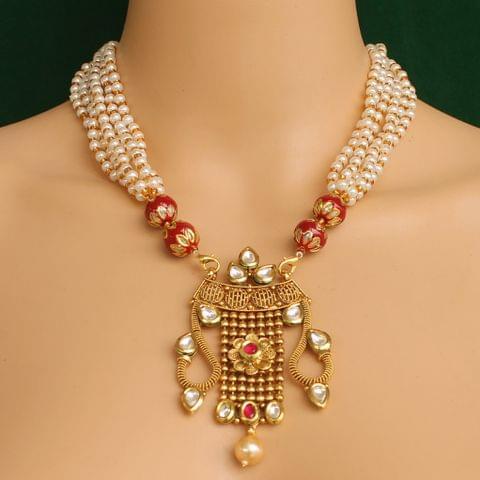Mayuri Kundan Necklace Set