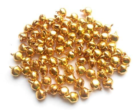Golden Finish Metal Ghungroo Beads