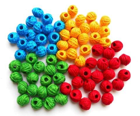 100 pieces of multi colour Thread Beads