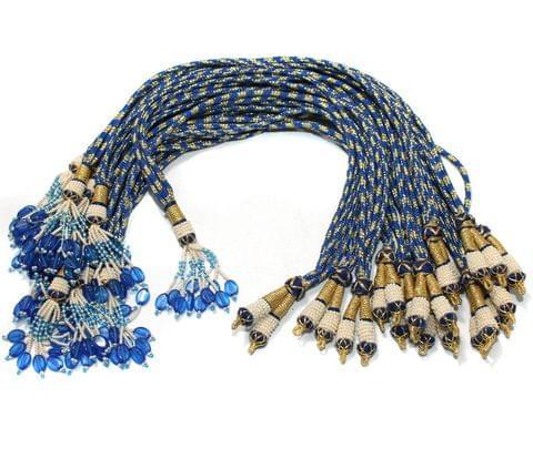 1 Dozen Zari Necklace Dori Blue