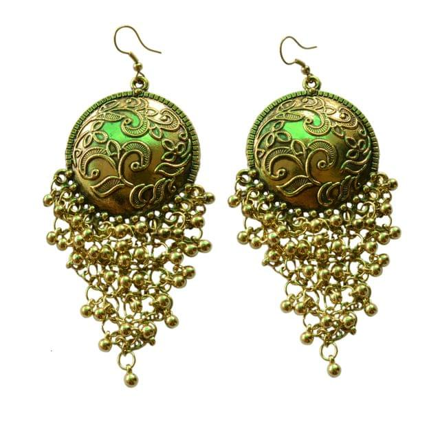 Foppish Mart  Antique Gold Coin Inspired Boho Dangler Earrings For Women