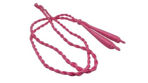 Aumni Crafts Handmade Jewellery Making Cotton Dori Back Rope Braided 1cm 18inch (Pack of 5 Pieces) [Color 2-> Pink]