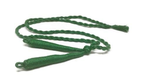 Aumni Crafts Handmade Jewellery Making Cotton Dori Back Rope Braided 1cm 18inch (Pack of 5 Pieces) [Color 11-> Dark Green]