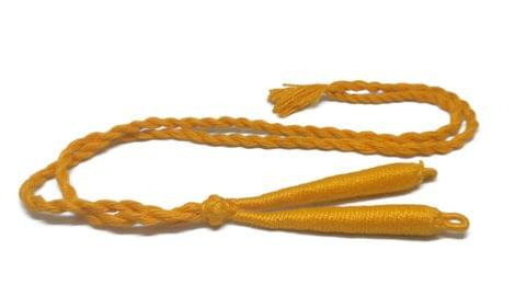 Handmade Jewellery Making Cotton Dori Back Rope Braided 1cm 18inch (Pack of 5 Pieces) [Color 13-> Light Orange]