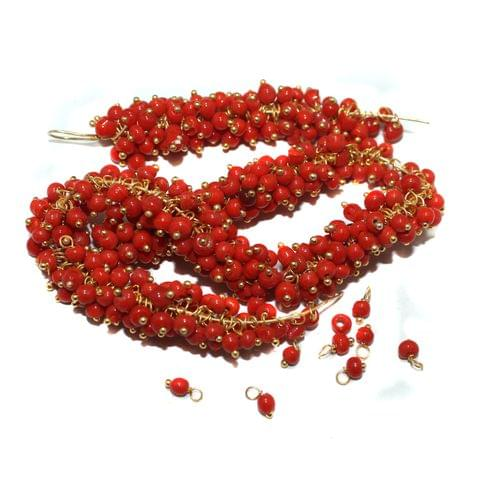Loreal Glass Beads Red 4mm For Earring, Necklace and Bracelet