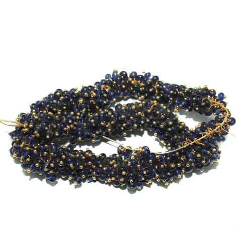 Loreal Glass Beads Dark Blue 4mm For Earring, Necklace and Bracelet