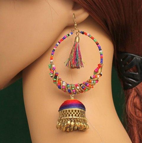 Multicolor Afghani Jhumki Earrings