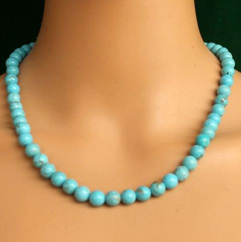 Turquoise Gemstone Necklace stone to decrease nervousness, tension, and stress