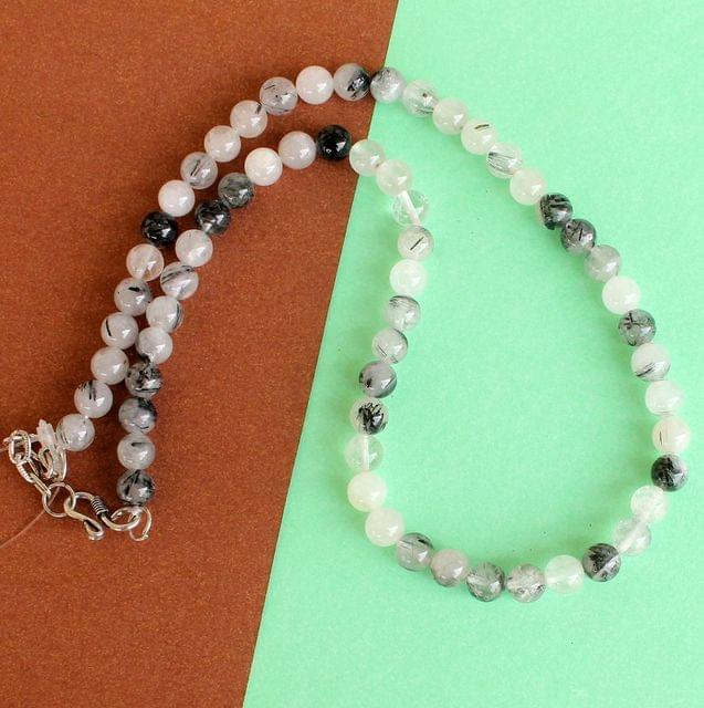 Black Rutile Gemstone Necklace
