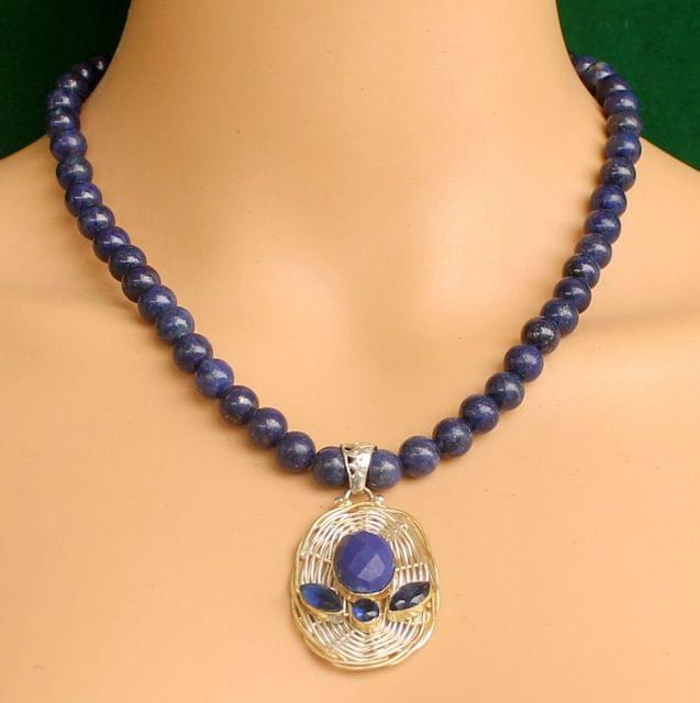 Lapis Gemstone Necklace for self awareness Pendant