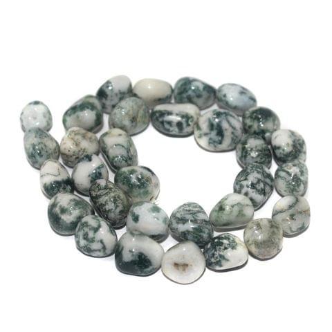 Tumbled Tree Agate Stone Beads 11-15 mm