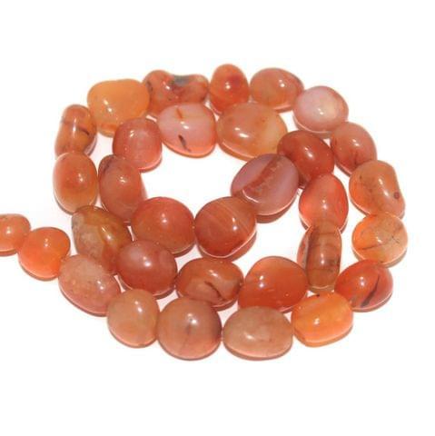 Tumbled Carnelian Stone Beads 16-10 mm
