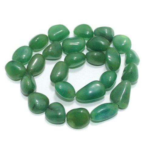 Tumbled Light Green Diy Stone Beads 16-10 mm