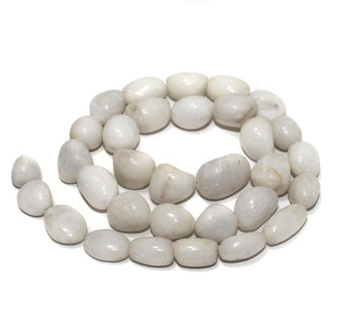Tumbled White Kiny Stone Beads 15-10 mm