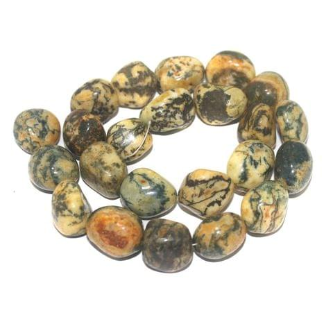 Tumbled Yellow Diy Tree Agate Stone Beads 21-15 mm