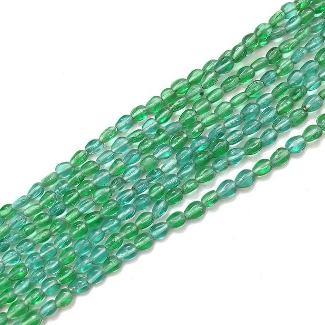 Mix Green Sea Green Drop Glass Bead Strings
