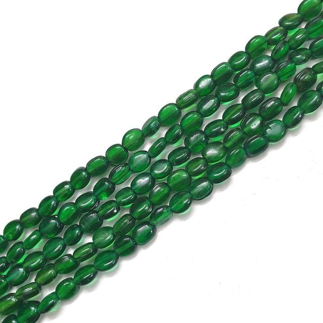Green Drop Glass Bead Strings