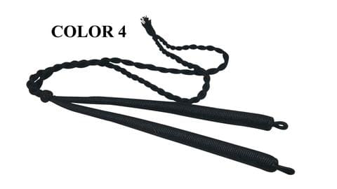 Handmade Jewellery Making Cotton Dori Adjustable Back Rope Braided Black Pack of 5 Pieces 18inch