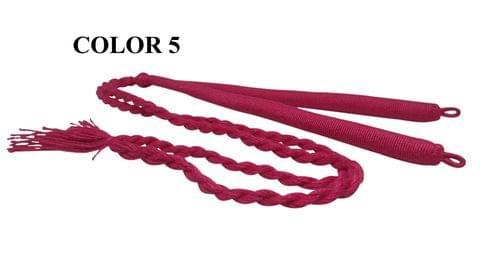 Handmade Jewellery Making Cotton Dori Adjustable Back Rope Braided Dark Pink Pack of 5 Pieces 18inch
