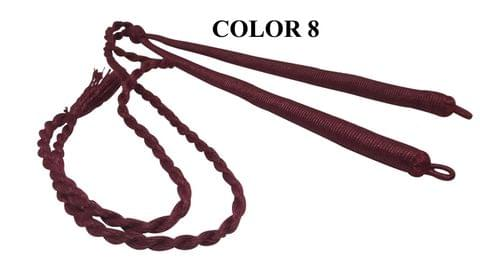 Handmade Jewellery Making Cotton Dori Adjustable Back Rope Braided Maroon Pack of 5 Pieces 18inch