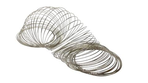 Jewellery Making Steel Memory Wires (Pack of 100 Circles) for Bracelets 60mm with 0.6mm Thickness - Bangle Size 2.6 Silver Color