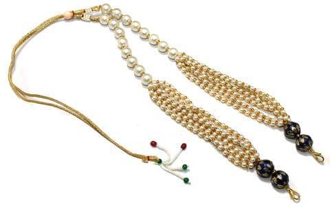 Pearl and Meenakari Beaded Adjustable Dori Blue, Pck Of 1 Pc