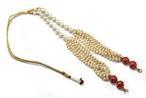 Pearl and Meenakari Beaded Adjustable Dori Magenta, Pck Of 1 Pc