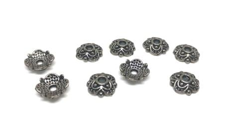 Jewellery Making Metal Alloy Bead Caps (125 Pieces) 8x2mm Square Antique Silver Color (30 grams)