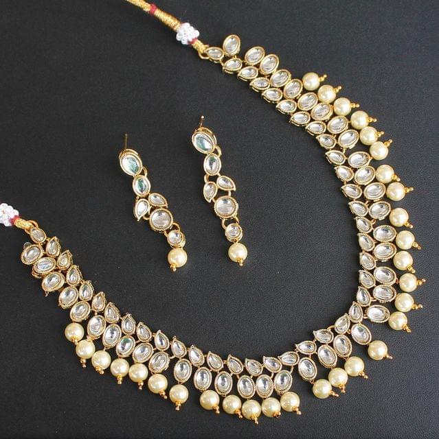 Malika Kundan Necklace Set