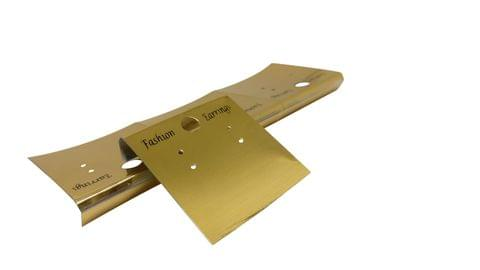 Plastic Earring Display Card Strips 1.5inch (3.8CM) Rectangle Gold Color (Pack of 100 Pieces)