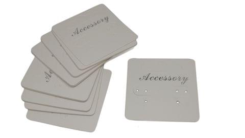 Paper Earring Display Cards 5x5cm Rectangle White (Pack of 100 Pieces)