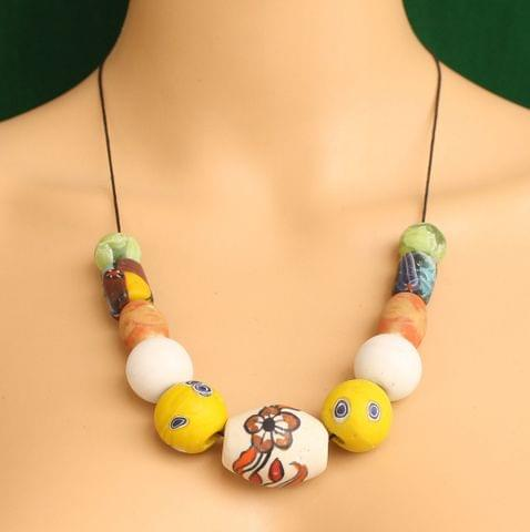 Ceramic Beaded Necklace MultiColor