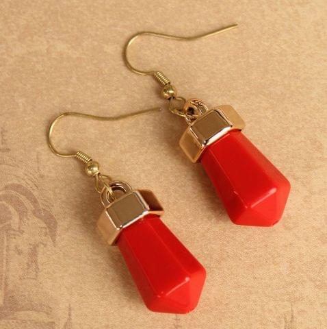 Light Weight Dangler Earrings Red